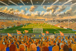 bloomfield road  canvas a3 size
